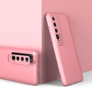 Voor Xiaomi Mi 10 GKK Three Stage Splicing Full Coverage PC Protective Case (Rose Gold)