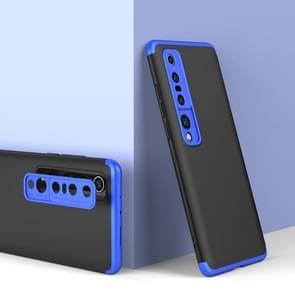 Voor Xiaomi Mi 10 Pro GKK Three Stage Splicing Full Coverage PC Protective Case (Zwart Blauw)
