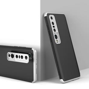 Voor Xiaomi Mi 10 Pro GKK Three Stage Splicing Full Coverage PC Protective Case (Black Silver)