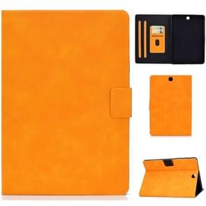 Voor Samsung Galaxy Tab A 9.7 T550/T555C Cowhide Texture Horizontale Flip Lederen case met Holder & Card Slots & Sleep / Wake-up Functie(Khaki)