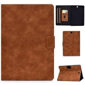 Voor Samsung Galaxy Tab A 9.7 T550/T555C Cowhide Texture Horizontale Flip Lederen case met Holder & Card Slots & Sleep / Wake-up Functie(Bruin)