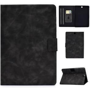 Voor Samsung Galaxy Tab A 9.7 T550/T555C Cowhide Texture Horizontale Flip Lederen case met Holder & Card Slots & Sleep / Wake-up Functie(Grijs)