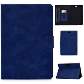 Voor Samsung Galaxy Tab A 9.7 T550/T555C Cowhide Texture Horizontale Flip Lederen case met Holder & Card Slots & Sleep / Wake-up Functie(Blauw)