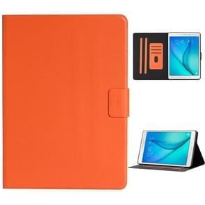 Voor Samsung Galaxy Tab A 9.7 T550/T555C Solid Color Horizontale Flip Lederen case met kaartslots & houder & slaap / wake-up functie(oranje)