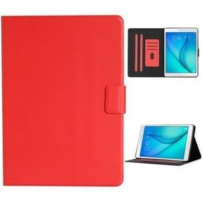 Voor Samsung Galaxy Tab A 9.7 T550/T555C Solid Color Horizontale Flip Lederen case met kaartslots & houder & slaap / wake-up functie(rood)