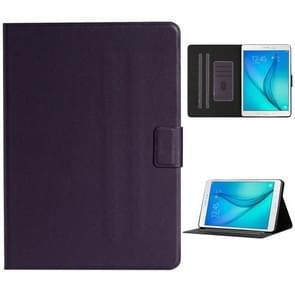 Voor Samsung Galaxy Tab A 9.7 T550/T555C Solid Color Horizontale Flip Lederen case met kaartslots & houder & slaap / wake-up functie(Paars)