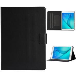 Voor Samsung Galaxy Tab A 9.7 T550/T555C Solid Color Horizontale Flip Lederen case met kaartslots & houder & slaap / wake-up functie(zwart)