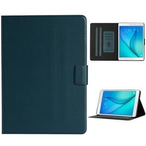 Voor Samsung Galaxy Tab A 9.7 T550/T555C Solid Color Horizontale Flip Lederen case met kaartslots & houder & slaap / wake-up functie(Donkergroen)