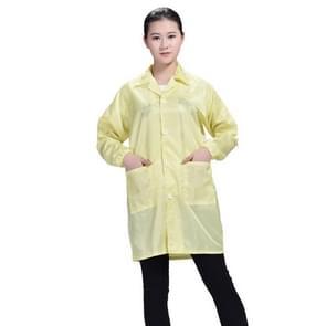 Electronic Factory Anti Static Blue Stofvrije kleding Stripe Stofdichte kleding  maat: S (Geel)