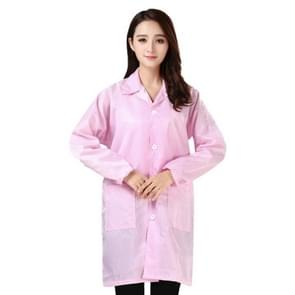 Electronic Factory Anti Static Blue Stofvrije kleding Stripe Stofdichte kleding  maat: L(Pink)
