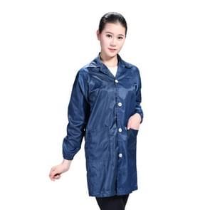 Electronic Factory Anti Static Blue Stofvrije kleding Stripe Stofdichte kleding  maat:XXXXL(Navy Blue)