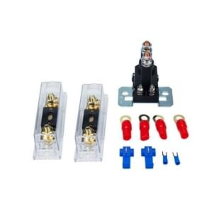 Auto Modificatie Small Contact 12V / 500A Contact Dual Battery High Current DC Relay met 60A Fuse Holder + 80A Fuse Kit