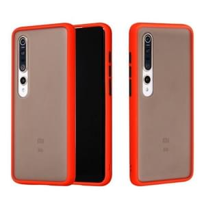 Voor Xiaomi Mi 10 Skin Hand Feeling Series Shockproof Frosted PC+ TPU Protective Case(Red)