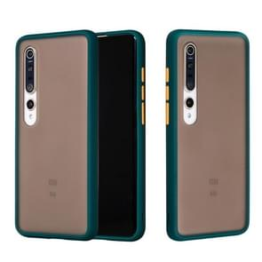 Voor Xiaomi Mi 10 Skin Hand Feeling Series Shockproof Frosted PC+ TPU Protective Case (Donkergroen)