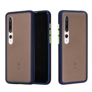 Voor Xiaomi Mi 10 Pro Skin Hand Feeling Series Shockproof Frosted PC+ TPU Protective Case(Blauw)