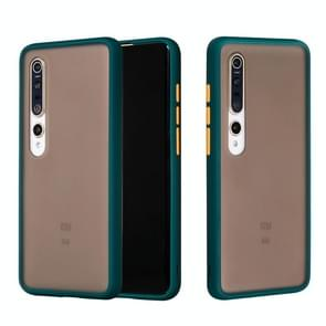 Voor Xiaomi Mi 10 Pro Skin Hand Feeling Series Shockproof Frosted PC+ TPU Protective Case (Donkergroen)