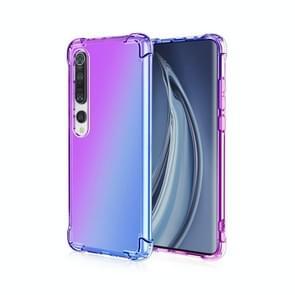 Voor Xiaomi Mi 10 Pro Vierhoekair schokbestendige gradiëntkleur TPU-beschermhoes (paars blauw)