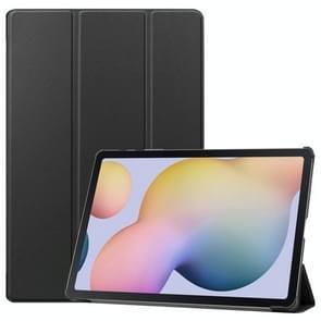 Voor Samsung Galaxy Tab S7 Plus Custer Texture Smart PU Lederen hoes met slaap / Wake-up Functie & 3-voudige houder(Zwart)