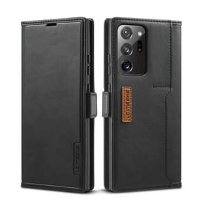 Voor Samsung Galaxy Note 20 Ultra LC. IMEEKE LC-001 Serie PU + TPU Kleur bijpassende mat ijzige horizontale flip lederen kast met Holder & Card Slot(Zwart)