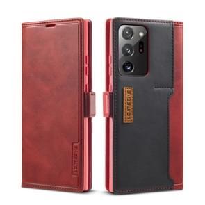 Voor Samsung Galaxy Note 20 Ultra LC. IMEEKE LC-001 Serie PU + TPU Kleur bijpassende mat ijzige horizontale flip lederen kast met Holder & Card Slot(Rood)