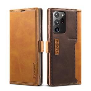 Voor Samsung Galaxy Note 20 Ultra LC. IMEEKE LC-001 Serie PU + TPU Kleur bijpassende mat ijzige horizontale flip lederen kast met houder & kaartsleuf (geel)