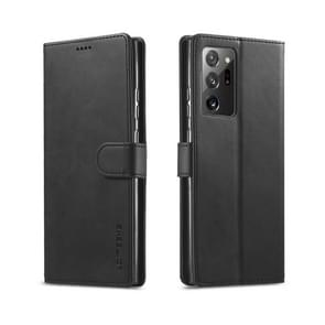 Voor Samsung Galaxy Note 20 Ultra LC. IMEEKE Kalf texture horizontale flip lederen kast  met Holder & Card Slots & Wallet(Black)