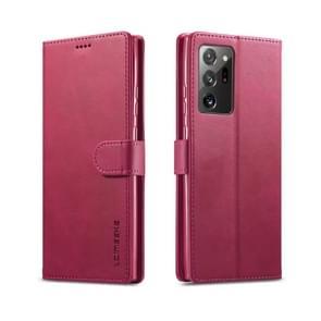 Voor Samsung Galaxy Note 20 Ultra LC. IMEEKE Kalf texture horizontale flip lederen kast  met Holder & Card Slots & Wallet(Red)