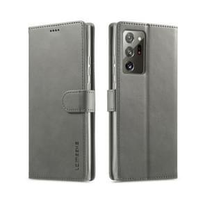 Voor Samsung Galaxy Note 20 Ultra LC. IMEEKE Kalf texture horizontale flip lederen kast  met Holder & Card Slots & Wallet(Grey)
