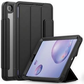 Voor Samsung Galaxy Tab A 8.4 (2020) T307 Acryl + TPU Horizontale Flip Smart Leather Case met drieklapbare houder & penslot & wake-up / slaapfunctie(zwart)