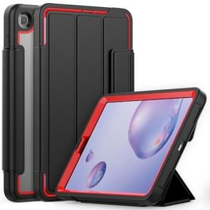 Voor Samsung Galaxy Tab A 8.4 (2020) T307 Acryl + TPU Horizontale Flip Smart Leather Case met drieklapbare houder & penslot & wake-up / slaapfunctie(Rood+Zwart)
