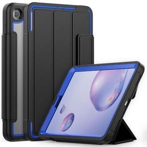 Voor Samsung Galaxy Tab A 8.4 (2020) T307 Acryl + TPU Horizontale Flip Smart Leather Case met drieklapbare houder & penslot & wake-up / slaapfunctie(Blauw+Zwart)