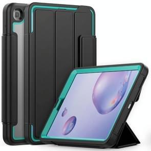 Voor Samsung Galaxy Tab A 8.4 (2020) T307 Acryl + TPU Horizontale Flip Smart Leather Case met drieklapbare houder & penslot & wake-up / slaapfunctie(Lichtblauw+zwart)