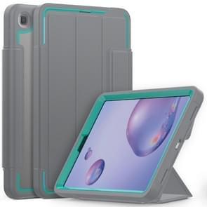 Voor Samsung Galaxy Tab A 8.4 (2020) T307 Acryl + TPU Horizontale Flip Smart Leather Case met drieklapbare houder & penslot & wake-up / slaapfunctie(Lichtblauw+grijs)