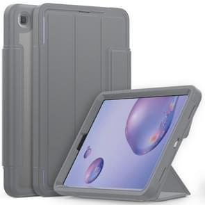 Voor Samsung Galaxy Tab A 8.4 (2020) T307 Acryl + TPU Horizontale Flip Smart Leather Case met drieklapbare houder & penslot & wake-up / slaapfunctie(Grijs)