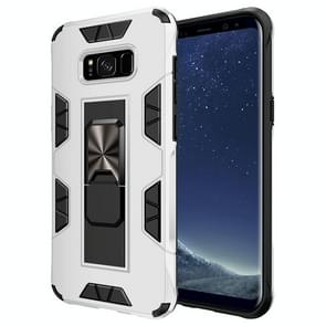 Voor Samsung Galaxy S8 Soldier Armor Shockproof TPU + PC Magnetic Protective Case met Holder(White)