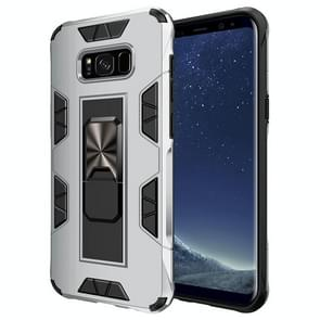 Voor Samsung Galaxy S8 Soldier Armor Shockproof TPU + PC Magnetic Protective Case met Holder(Silver)