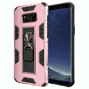 Voor Samsung Galaxy S8 Soldier Armor Shockproof TPU + PC Magnetic Protective Case met Holder(Rose Gold)