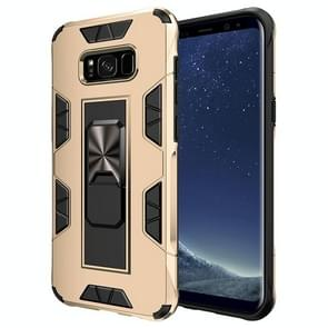 Voor Samsung Galaxy S8 Soldier Armor Shockproof TPU + PC Magnetic Protective Case met Holder(Gold)