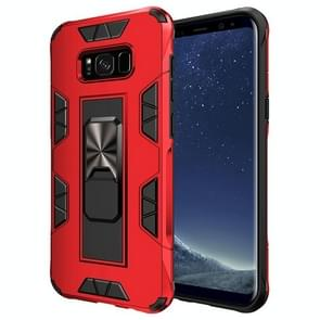 Voor Samsung Galaxy S8 Soldier Armor Shockproof TPU + PC Magnetic Protective Case met Holder(Red)