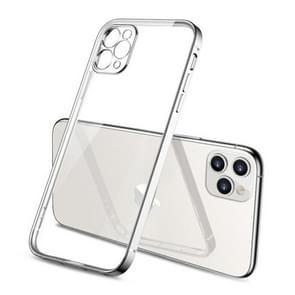 Voor iPhone 11 Pro Max Pro GKK Straight Edge Phantom TPU + Plating Beschermhoes(Zilver)