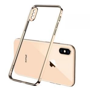 Voor iPhone X GKK Straight Edge Phantom TPU + Plating Beschermhoes(Goud)