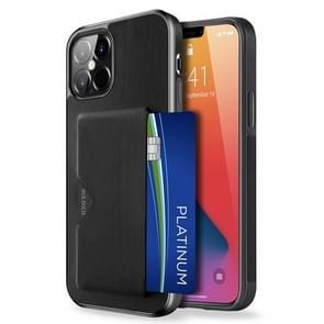 Voor iPhone 12 Pro Max DUX DUCIS Pocard Series TPU + PU Lederen beschermhoes met kaartsleuf(Zwart)