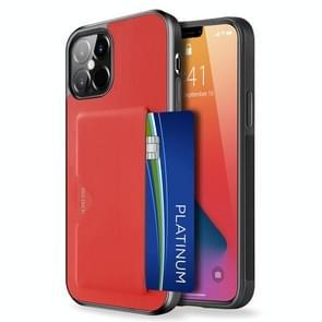 Voor iPhone 12 Pro Max DUX DUCIS Pocard Series TPU + PU Lederen beschermhoes met kaartsleuf(Rood)