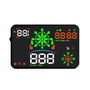 H8 3 5 inch Universal Car GPS + Navigatie HUD Voertuig gemonteerde Head Up Display Speed Display