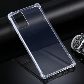 Voor Samsung Galaxy Note20 Vierhoek anti-drop ultra-dunne TPU case (transparant)