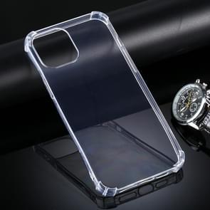Voor iPhone 12 Pro Max Vierhoeks Anti-Drop Ultra-Thin TPU Case(Transparant)