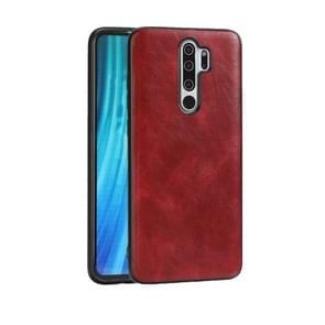Voor Xiaomi Redmi Note 8 Pro Crazy Horse Textured Calfskin PU+PC+TPU Case(Red)