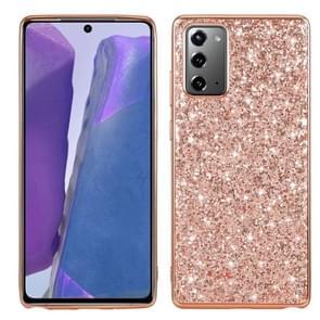 Voor Samsung Galaxy Note 20 Glitter Powder Shockproof TPU Beschermhoes (Rose Gold)