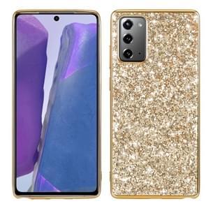 Voor Samsung Galaxy Note 20 Glitter Powder Shockproof TPU Beschermhoes (Goud)