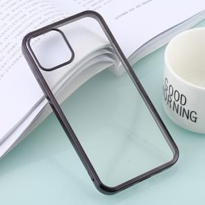 Voor iPhone 12 Ultra-thin Plating TPU Protective Soft Case(Zwart)
